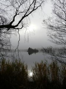 Loch Kinord on a misty morning