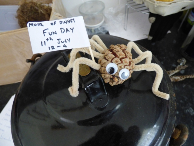 Meet Septumus, the seven-legged spider! He's coming to our Fun Day- are you?