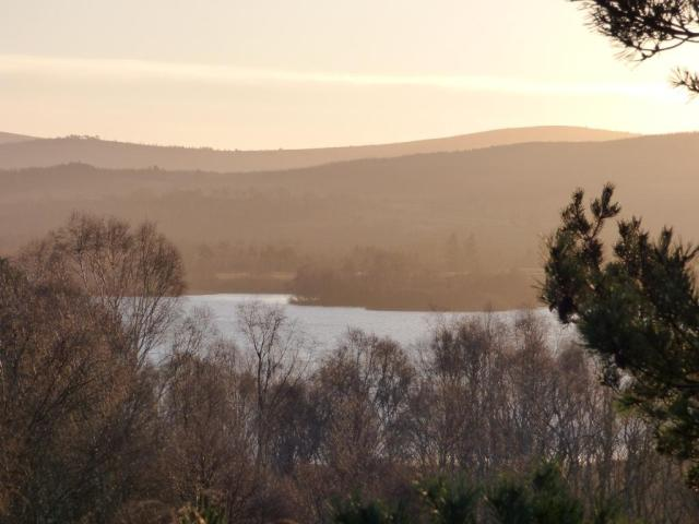 A hazy morning over Loch Kinord