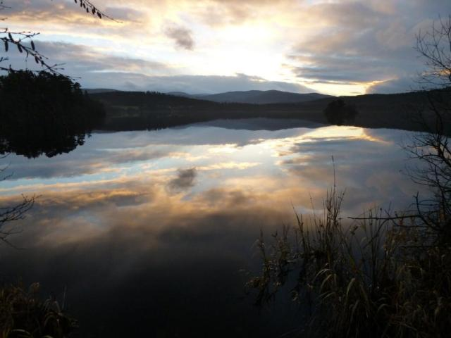 The last of the light over Loch kinord