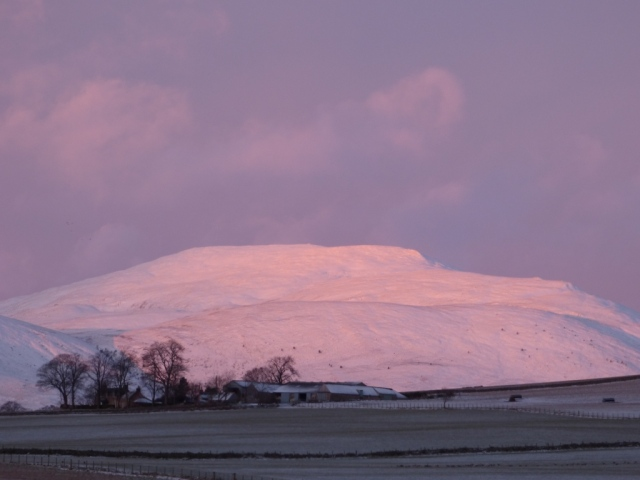 Looking out towards Morven in the snow