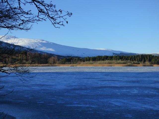 Frozen Loch Davan...