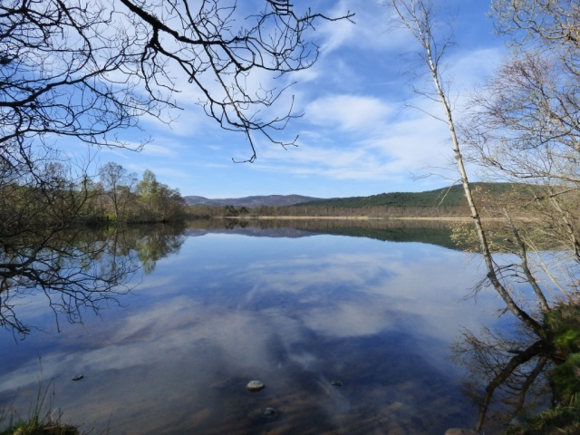Flat calm on Loch Kinord
