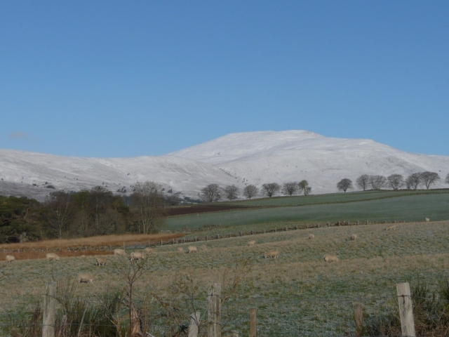 Snowy Morven ..but it won't last at this time of year...