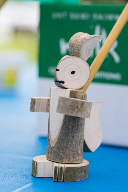 Many of our younger visitors (and a few of our older ones!) had a go at assembling a wooden pencil holder during the fun day.