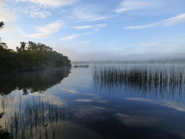 Morning mist over the loch