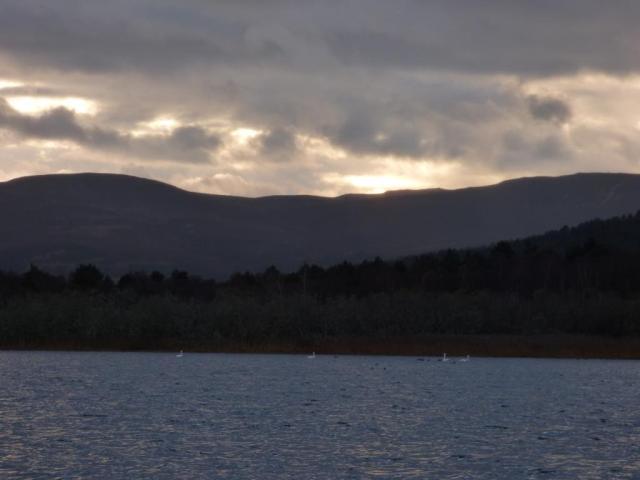 A story sky over Loch Davan