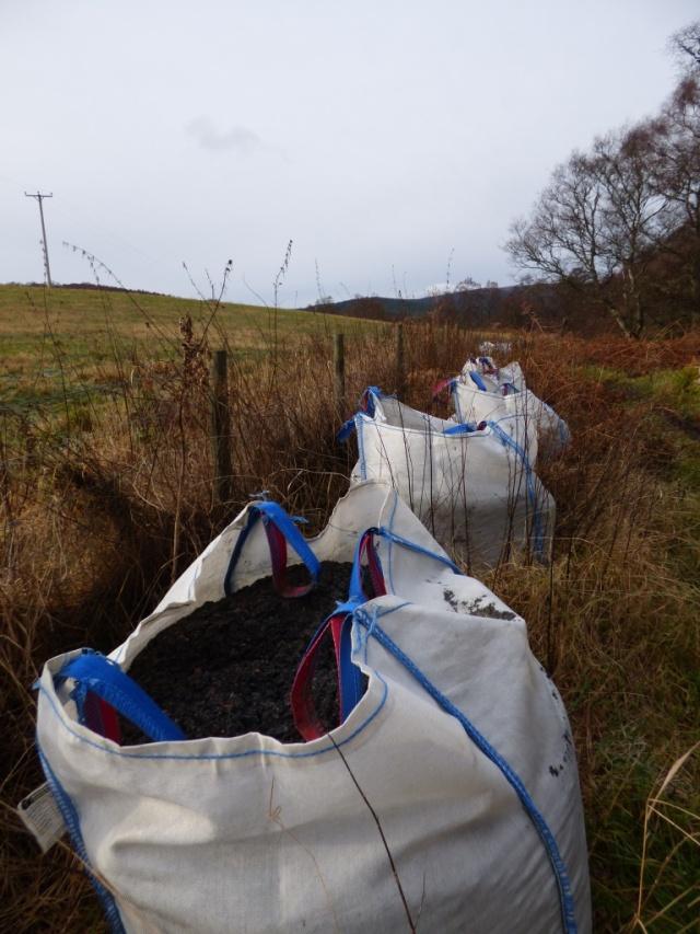 Ton bags of path surfacing