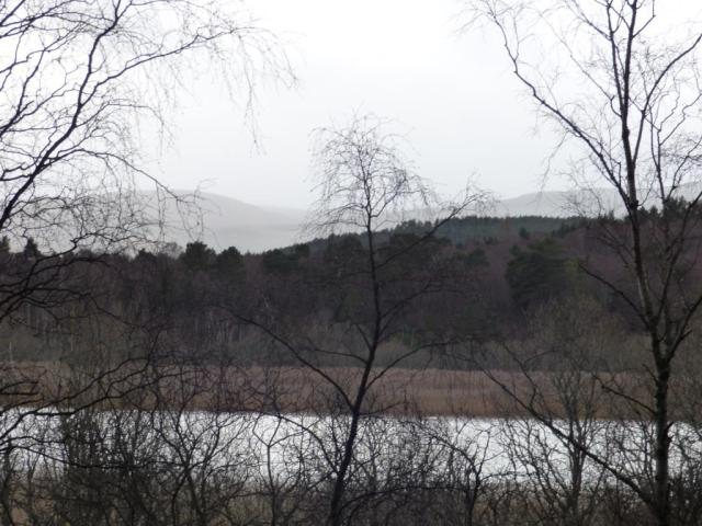 The rain moving in over Loch Davan