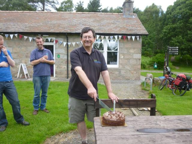 Birthday boy. Ewen's birthday coincided with the fun day- so we all had chocolate cake for breakfast!