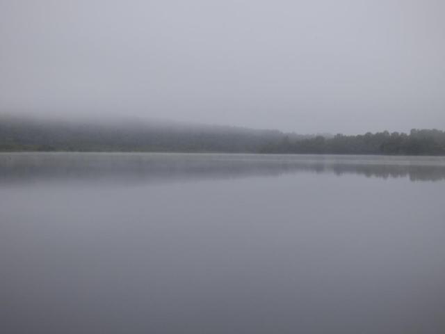 A misty morning over Loch Kinord