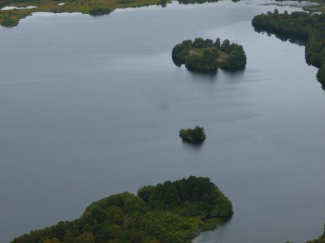 The crannog and Castle Island